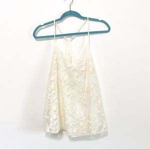 Anthropologie E by Eloise Ivory Lace Cami M